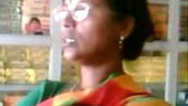 Satin Saree Aunty
