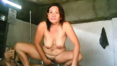 Asian woman hot sex with bald guy