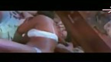 Only innerwear hot indian romance on the bed