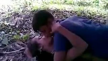 Indian teen outdoor sex with local guys