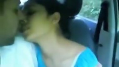 Indian girl in car with her lover