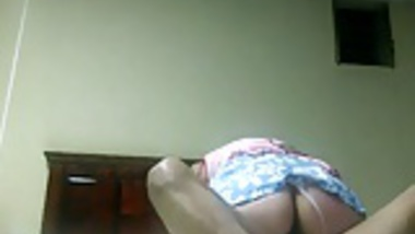 Indian aunty riding hubby wild