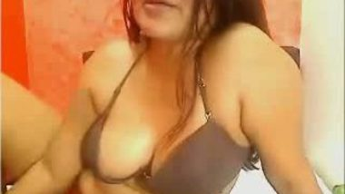 Big boobs aunty becomes webcam slut for money