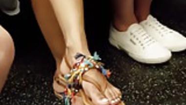 Candid indian girl feet