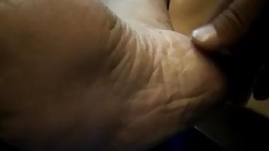 Sensitive bare feet