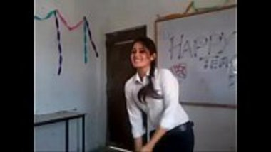 Indian college girl dancing of an item song