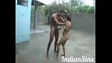Desi naked teens having sex in the rain