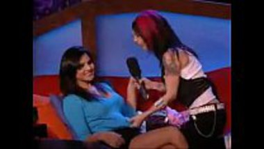 Naughty interview with Sunny Leone on a show