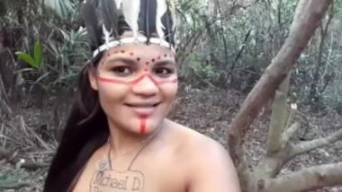 Naked Porn Star As Tribal Woman During Jungle Sex