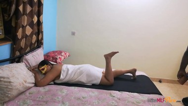 Indian Wife With Her Tamil Husband Massage Sex In Bedroom With Rough Sex