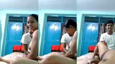 Cheating Bengali wife sex with her neighbor young guy