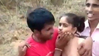 Locals groping girlfriend after getting caught with BF