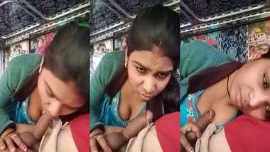 Local Desi Randi blowjob to a truck driver MMS