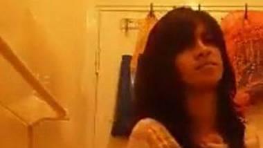 Beautiful Indian teen striptease