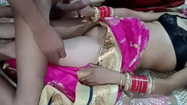 Indian married couple wedding night enjoy