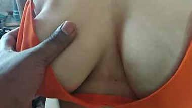 desi wife big boobs pressed