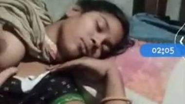 Sleeping wife exposed by husband