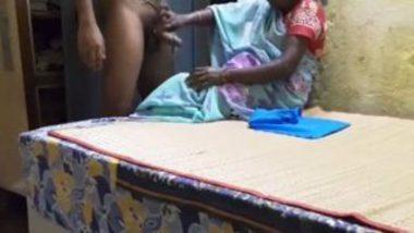 Indian maid handjob and cumload