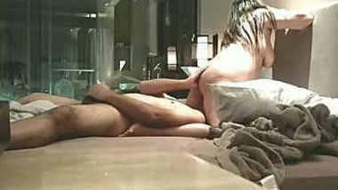 classy bangalore couple enjoying in 69 at hotel