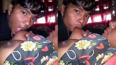 Horny Indian Wife Boob sucking