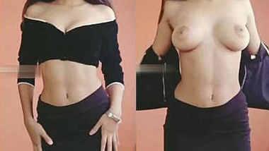 Hot desi babe stripping dress reveals everything