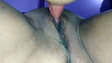 Desi wife juicy pussy licking by hubby