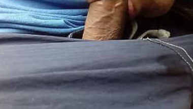 Desi wife sucking husbands cock in car