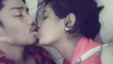 Desi Couple Kissing