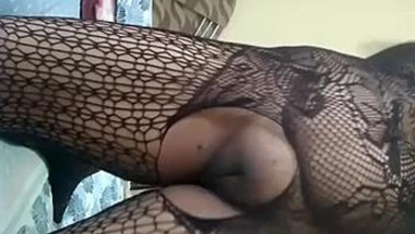 Home alone wife records vdos for hubby in Saree & Stocking part 1