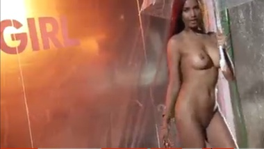 Naked And Wet Poonam Pandey Sexy Rain Dance