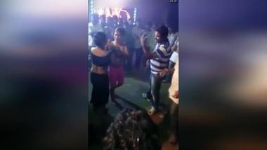 Desi local slut girls open naughty dancing front of local beer shop