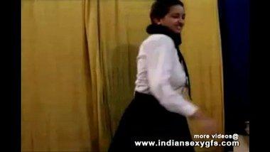 Desi porn star acting as a horny school girl