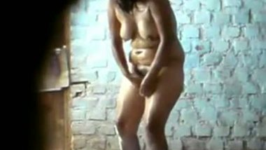 Indian village house wife's leaked bath scene
