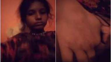 Sexy Desi girl records herself XXX fingering her sweet juicy pussy