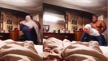 Saudi aunty with hijab fuck with indian bull