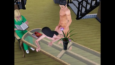 Fucked wife while mother-in-law on the table | sims 3 sex