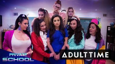 GIRLCORE Private School- Lesbian Orgy