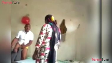 Woman lies on the bed to be fucked by the Desi lecher in missionary