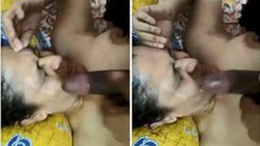 Cameraman wanks his XXX instrument and cums right on Desi wife's face