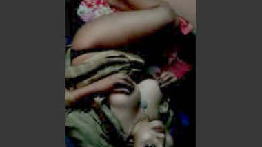 super hot desi girl slithers in bed and showcases